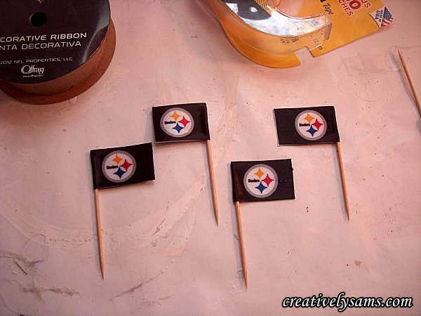Steeler Centerpiece Flags