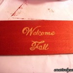 Copper Fall Wreath Welcome Sign