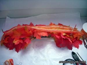 Fall Garland Centerpiece