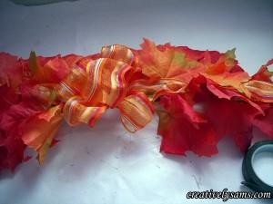 Fall Garland Centerpiece bow