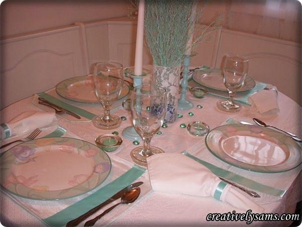 Aqua & Iris Tablescape