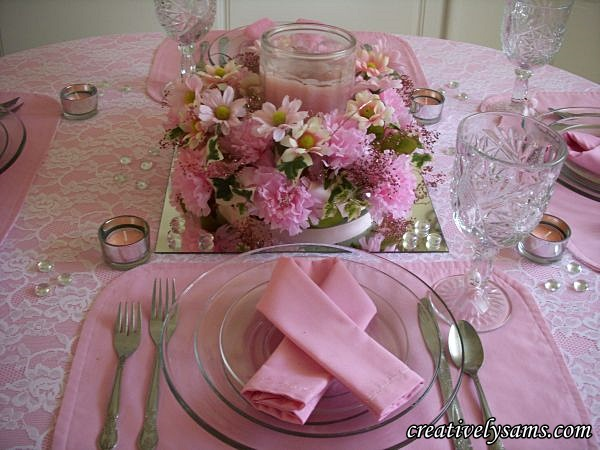 Breast Cancer Awareness Centerpiece