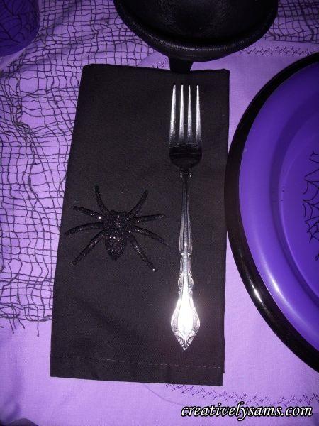 Purple Halloween Tablescape