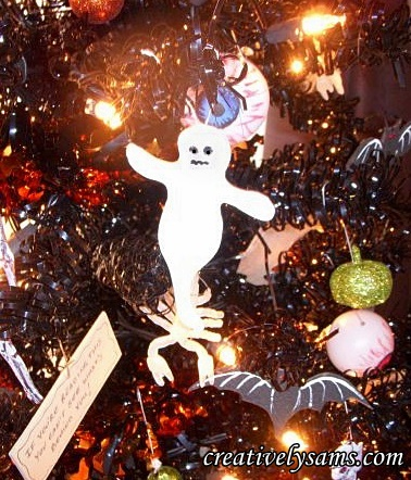 Foam Halloween Ghosts-hang on tree