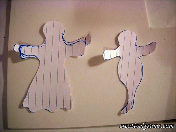 Foam Halloween Ghosts pattern