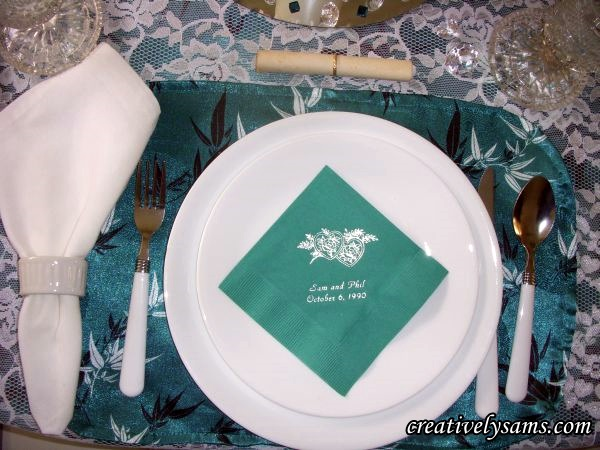 Anniversary Tablescape Place Setting