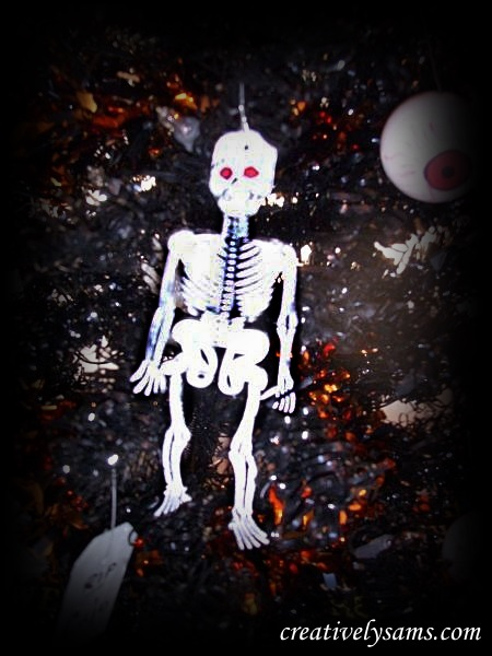 Plastic Skeleton Ornaments