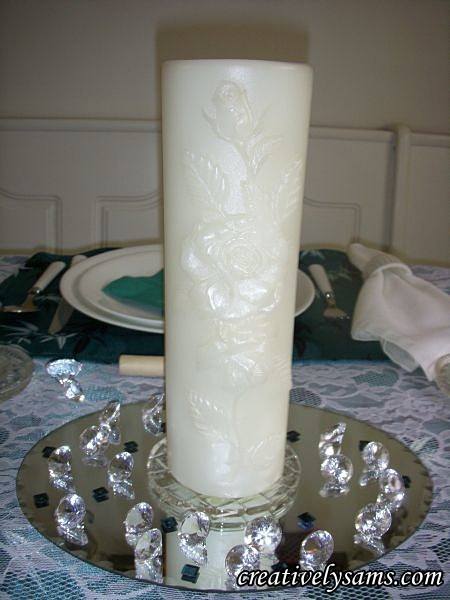 Anniversary Tablescape Unity Candle
