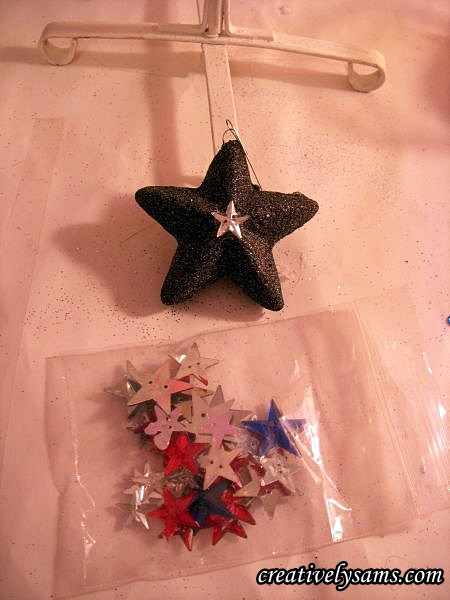 Star Ornaments and buttons