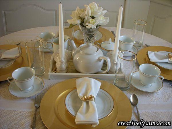 Thanksgiving dessert setting