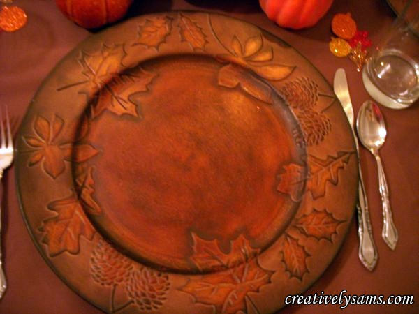 Fall Tablescape Charger