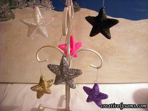 Hang Star Ornaments to dry