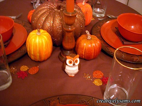 Owl Fall Tablescape