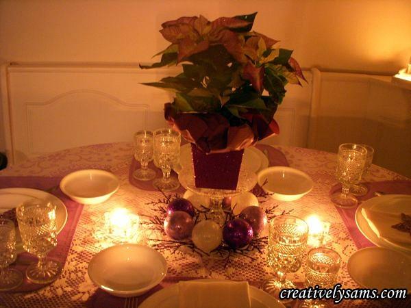 Purple Christmas Tablescape