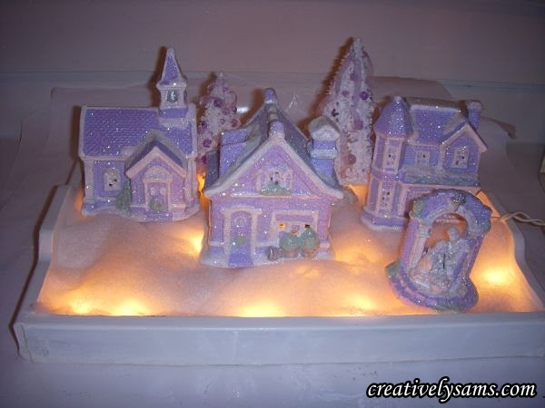 Lit Shabby Chic Lilac Village
