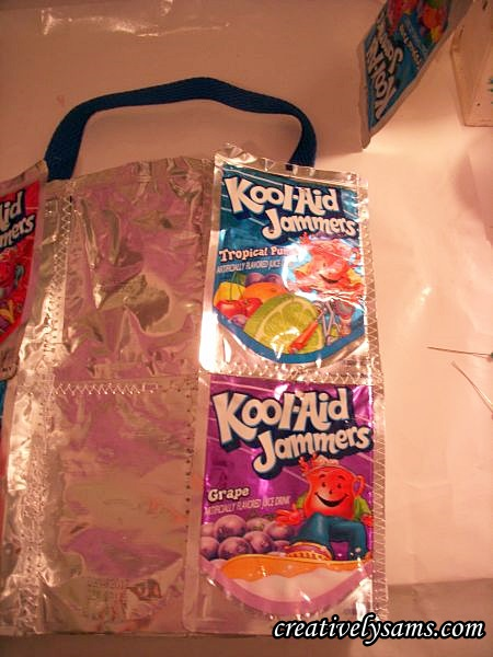 Juice Pouch Tote Bag sew on sides