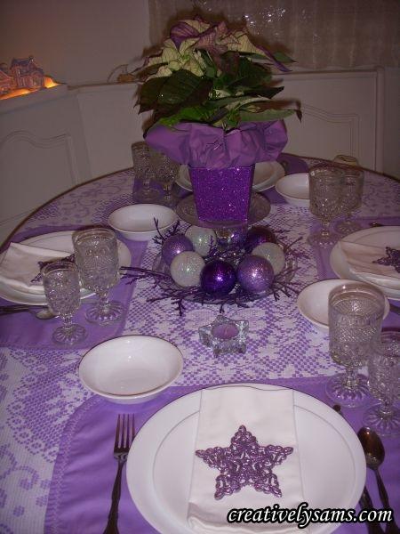 Purple Glass Christmas Ornaments