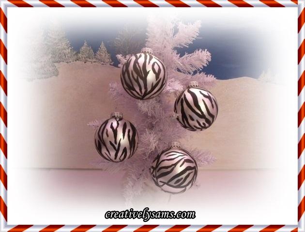 Zebra Ornaments