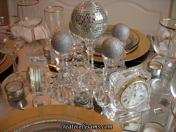New Year's Tablescape Centerpiece