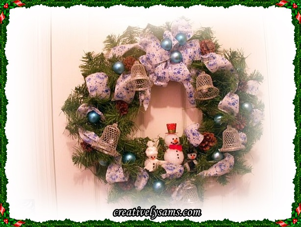 Finished Snowman Wreath