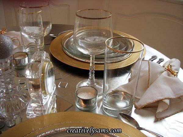 New Year's Tablescape glassware