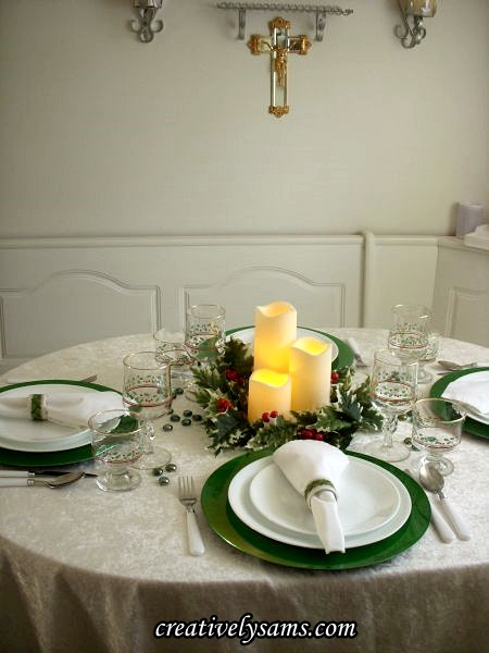 Holly Jolly Tablescape Lit