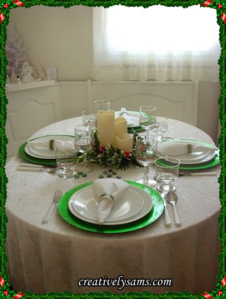Holly Jolly Tablescape