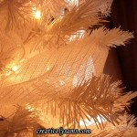 White Mesh on Black & White Christmas Tree