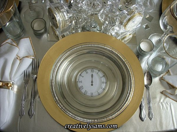 New Year's Tablescape Place Setting