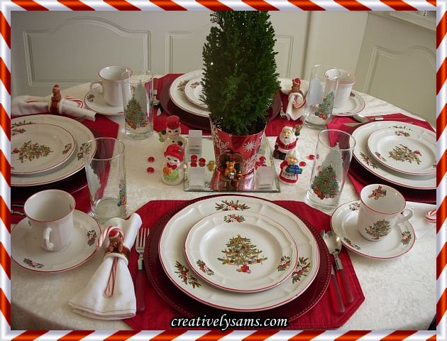 O Christmas Tree Tablescape