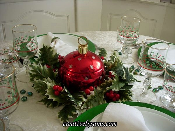 Red Ornament Candy Dish