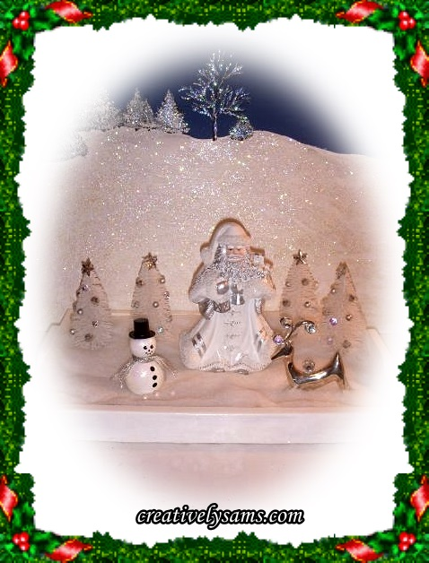 Finished White Christmas Vignette