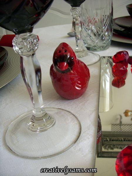 Cardinal Salt Shaker