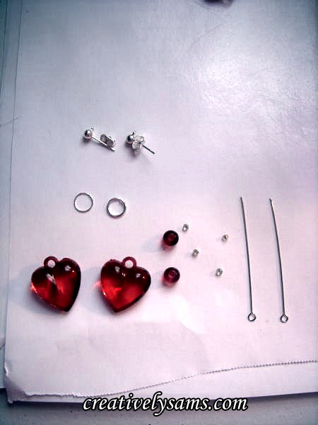Valentine's Day Earrings Supplies