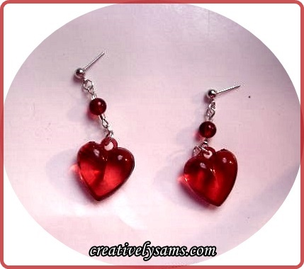Valentine's Day Earrings Finished