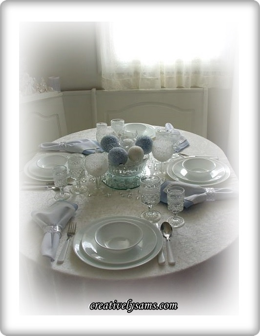 Snowy Tablescape