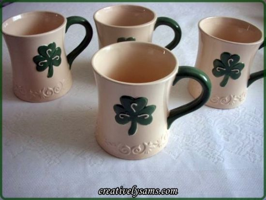 St. Patrick's Day Shamrock Mugs