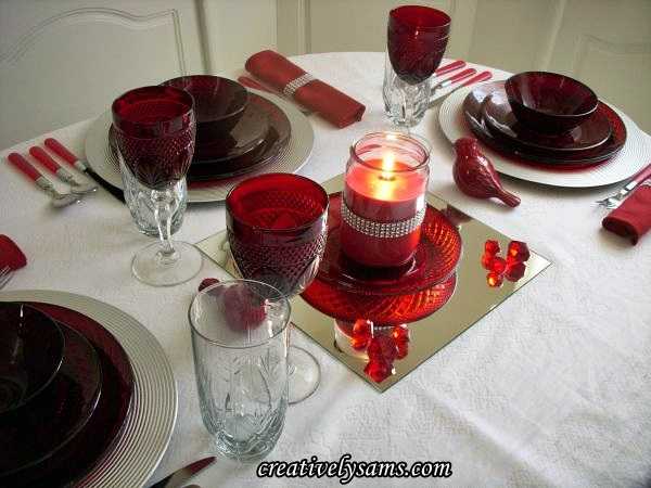 Red & Silver Tablescape