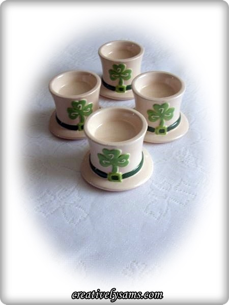 Shamrock Candle Holders