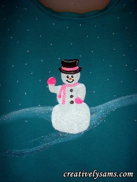 Snowman Shirt Pink Version