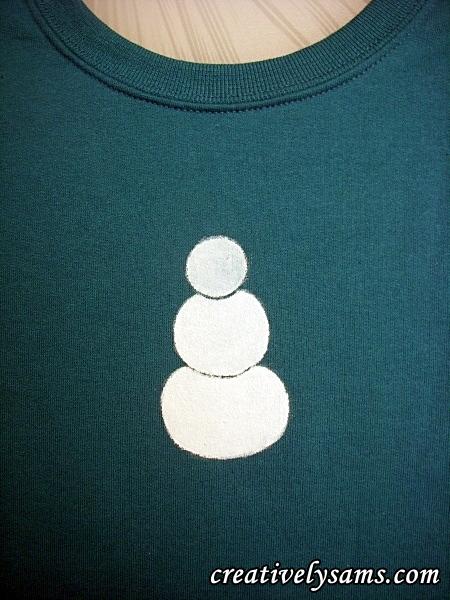 Snowman Shirt step 2