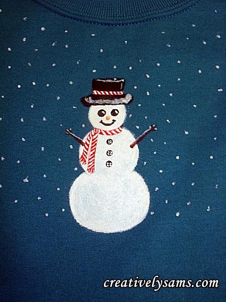 Snowman Shirt step 10