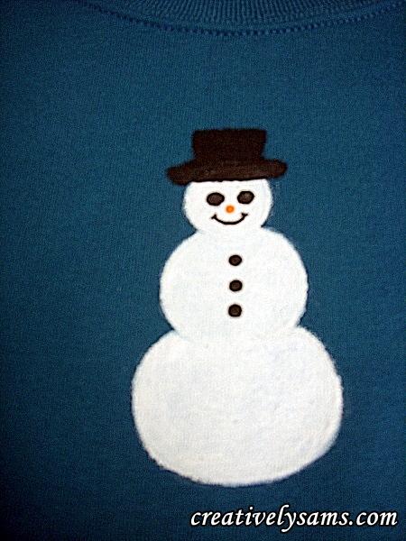 Snowman Shirt step 3