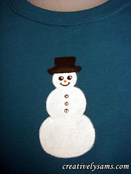 Snowman Shirt step 4