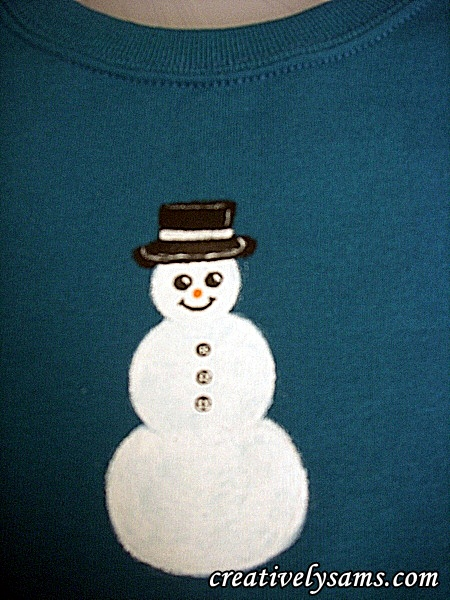 Snowman Shirt step 5