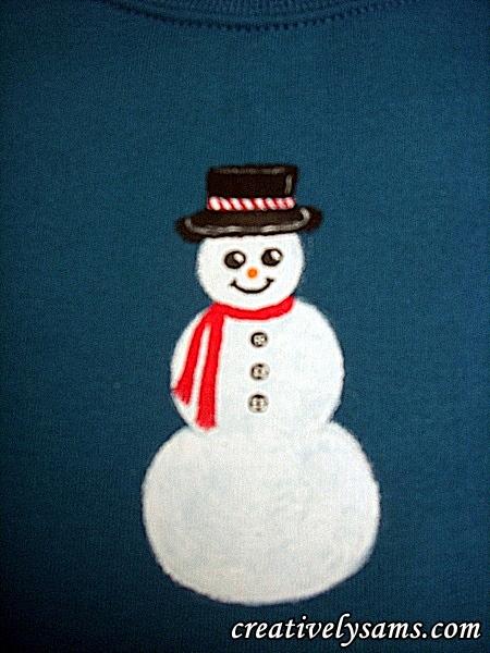 Snowman Shirt step 6