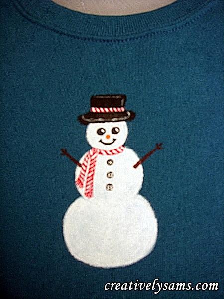 Snowman Shirt step 7