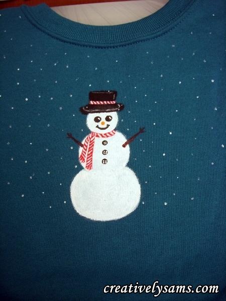 Snowman Shirt step 8