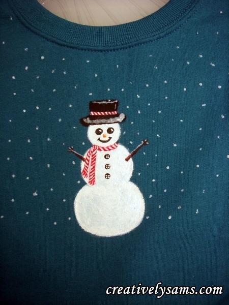 Snowman Shirt step 9