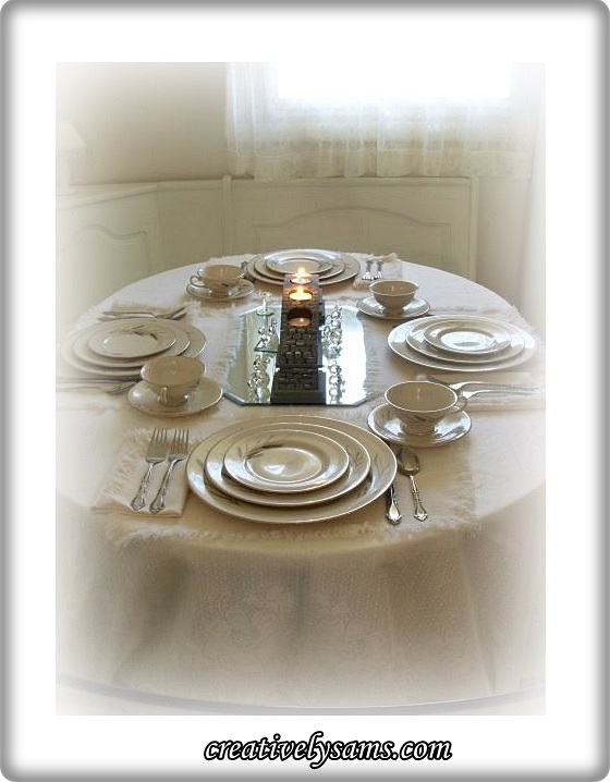 Memories of Aunt Millie Tablescape
